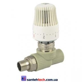Кран радиаторный с термоголовкой прямой Fado PKT01 20х1/2