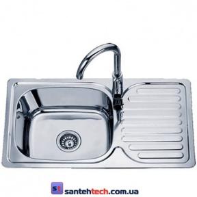 Мойка кухонная врезная 760x420x180 Sofia D7642P полированная