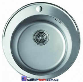 Мойка кухонная врезная 480x480x180 Cristal ROMA UA7103ZS Decor