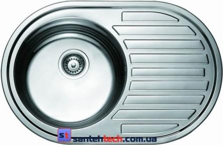 Мойка кухонная врезная 770x500x180 Cristal ROMA UA7108ZS Satin