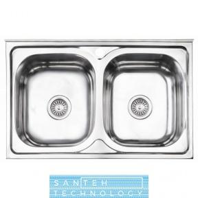 Кухонная мойка Lidz 5080 0.8мм Polish