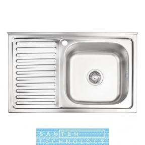 Кухонная мойка Lidz 5080-R 0.8мм Decor