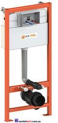 Инсталляция KK-POL монтажный комплект для подвесного унитаза в туалет PREMIUM, без клавиши.  ZSP/M500/0/K