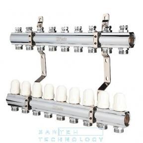 Коллекторный блок с запорными клапанами 1