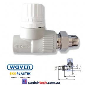 Вентиль радиаторный прямой 20*1/2 Ek WAVIN Ekoplastik