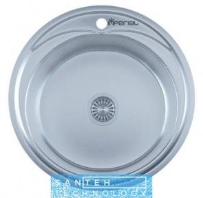 Мойка для кухни круглая врезная 490 х 165/180 IMPERIAL 0,8 DECOR