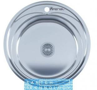 Мойка для кухни круглая врезная 490 х 165/180 IMPERIAL 0,8 POLISH