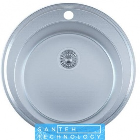 Мойка для кухни круглая врезная 510 х 165/180 IMPERIAL 0,8 DECOR