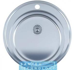 Мойка для кухни круглая врезная 510 х 165/180 IMPERIAL 0,8 POLISH