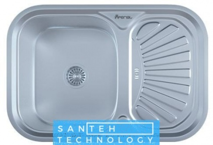 Мойка для кухни врезная 750 х 490 х 175/180 IMPERIAL 0,8 SATIN