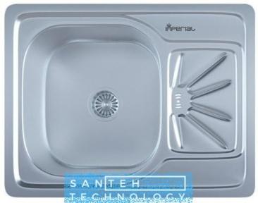 Мойка для кухни прямоугольная врезная 500 х 615 x 175/180 IMPERIAL 0,8 SATIN